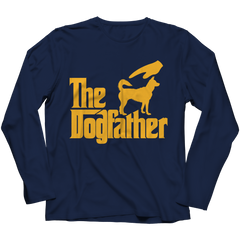 The Dogfather Long Sleeve / Navy / 4XL