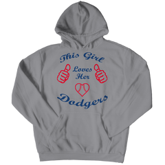 This Girl Loves Her Dodgers Hoodie / Athletic Heather / 2XL