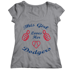This Girl Loves Her Dodgers Ladies Classic Shirt / Athletic Heather / 2XL