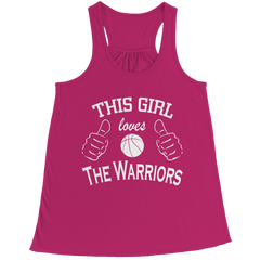 This Girl Loves The Warriors Bella Flowy Racerback Tank / Pink / 2XL