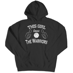 This Girl Loves The Warriors Hoodie / Black / 5XL