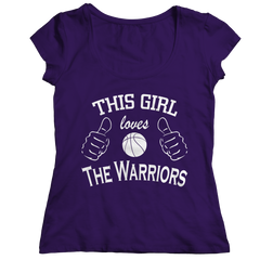 This Girl Loves The Warriors Ladies Classic Shirt / Purple / 2XL