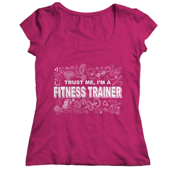 Trust Me I'm a Fitness Trainer | T-Shirt Ladies Classic Shirt / Royal / 2XL