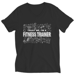 Trust Me I'm a Fitness Trainer | T-Shirt Ladies V-Neck / Navy / 2XL