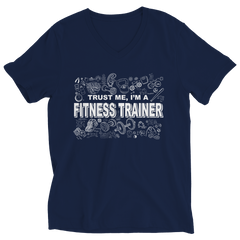 Trust Me I'm a Fitness Trainer | T-Shirt Ladies V-Neck / Pink / 2XL