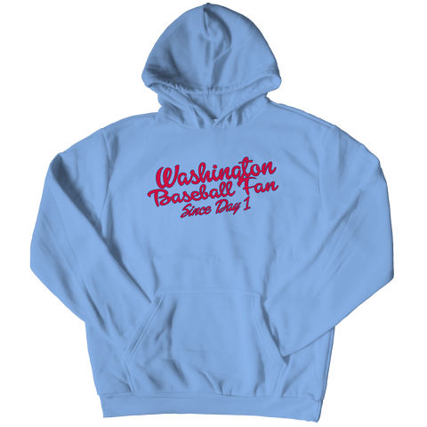 Washington Baseball Fan Hoodie / Light Blue / 3XL