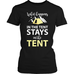 What Happens In The Tent Ladies Classic Shirt / Black / S