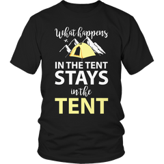 What Happens In The Tent Unisex Shirt / Black / S