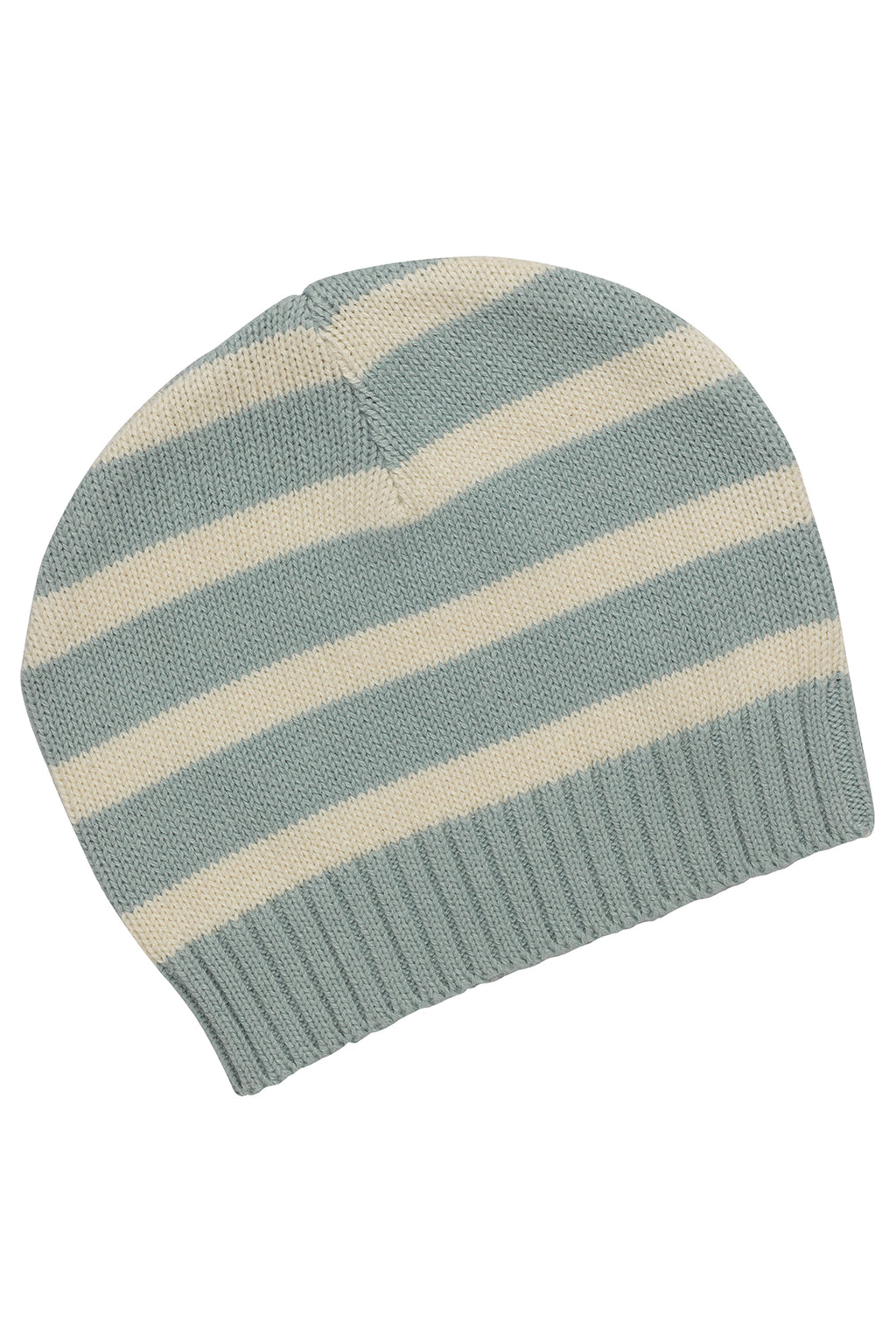 Stripes Ether Blue Knitted Beanie