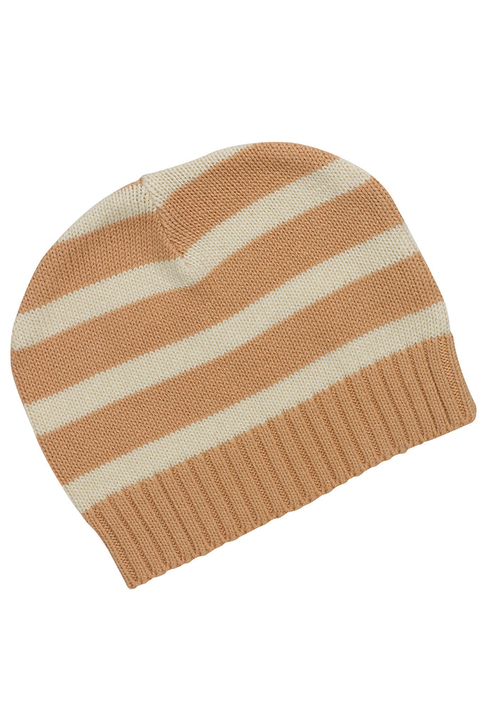 Stripes Peach Nougat Knitted Beanie