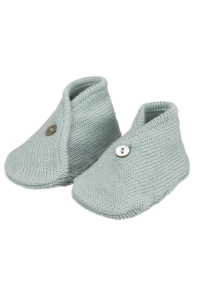 Ether Blue Baby Knitted Booties