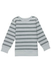 Silver Blue Stripes Sweatshirt