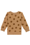 Brown Maxi Polka Dots Sweatshirt