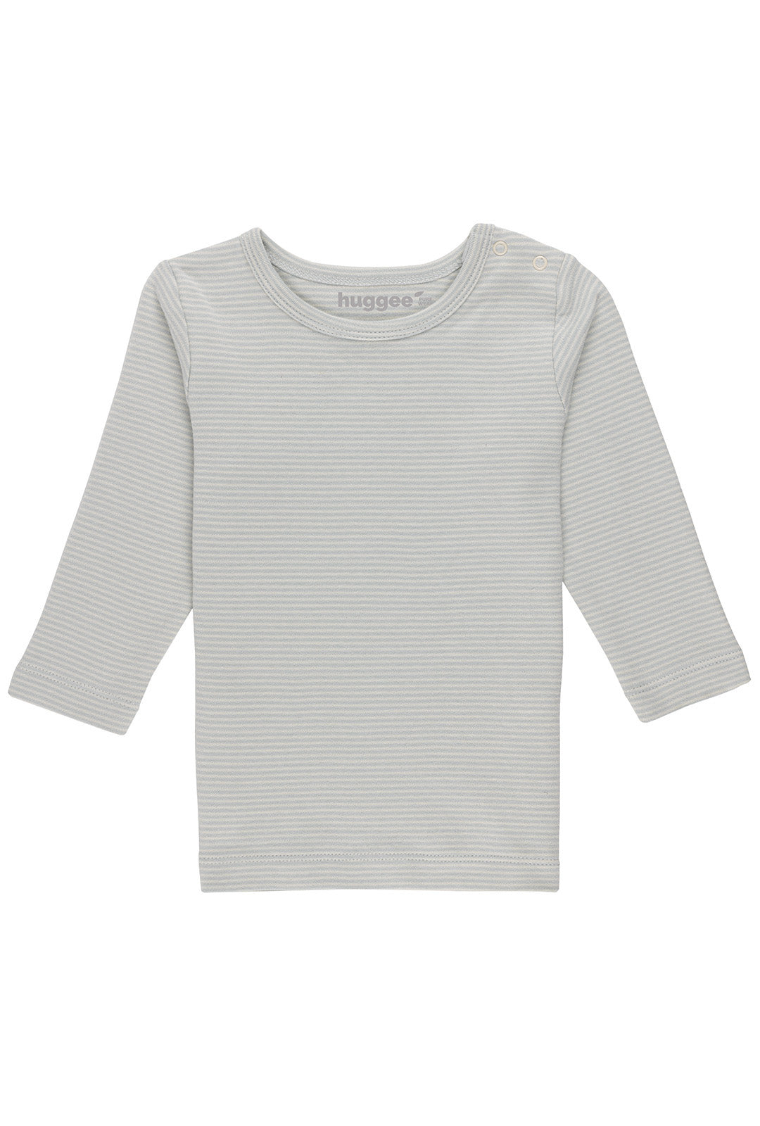 Stripes Natural and Blue Long Sleeve T-Shirt