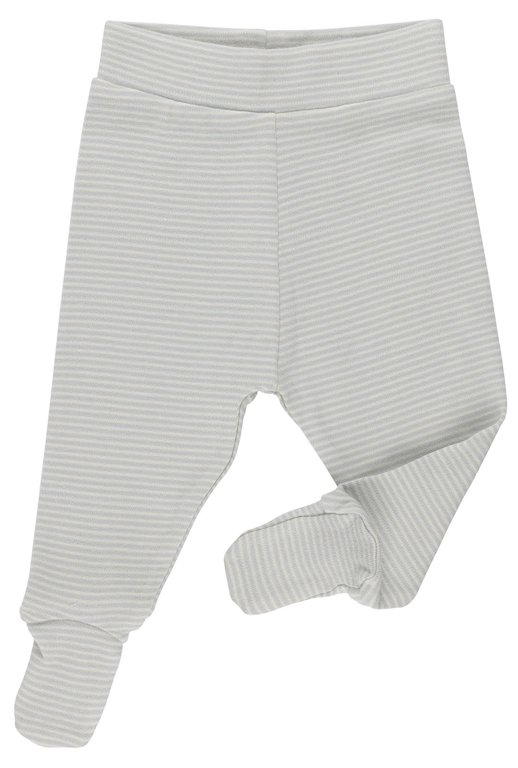 Stripes Natural and Blue Footed Trousers
