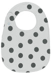Polka Dots Snap Button Bib