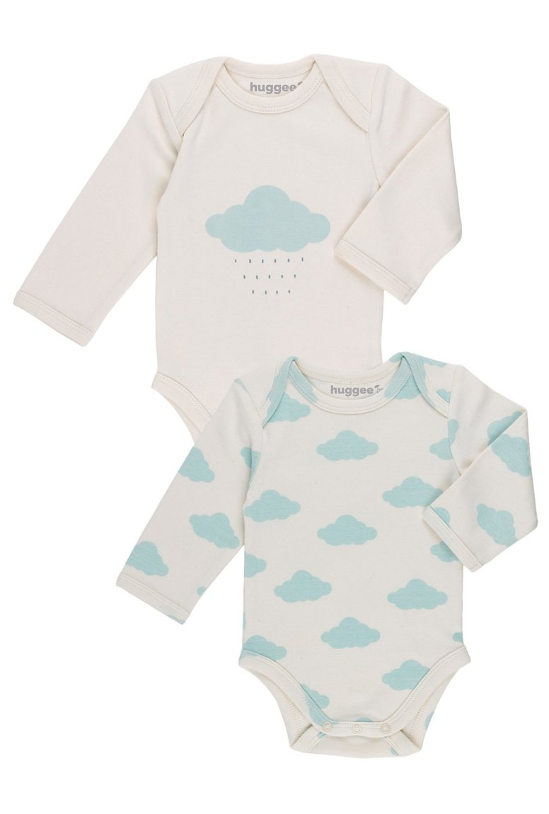 Lap Shoulder Bodysuit LS - Pack of 2 (Clouds)