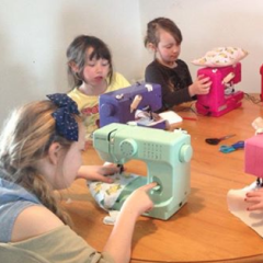 children sewing crafts