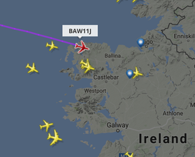 flight path over mayo