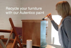 upcycling with autentico paint