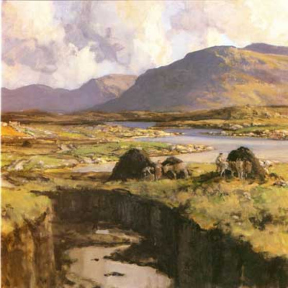 Art Cards from Ireland - Turf Harvest, The Rosses, Donegal