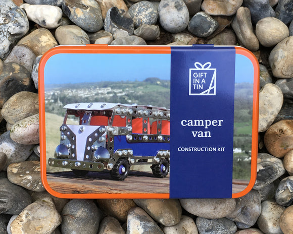 Camper Van Construction Gift in a Tin
