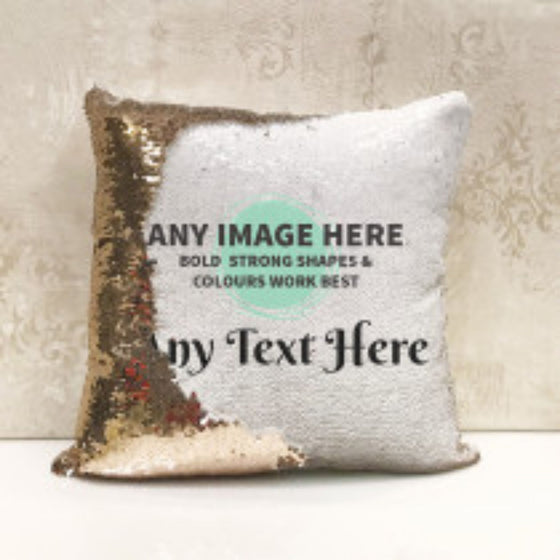 Personalised Sequin Cushion with Photo