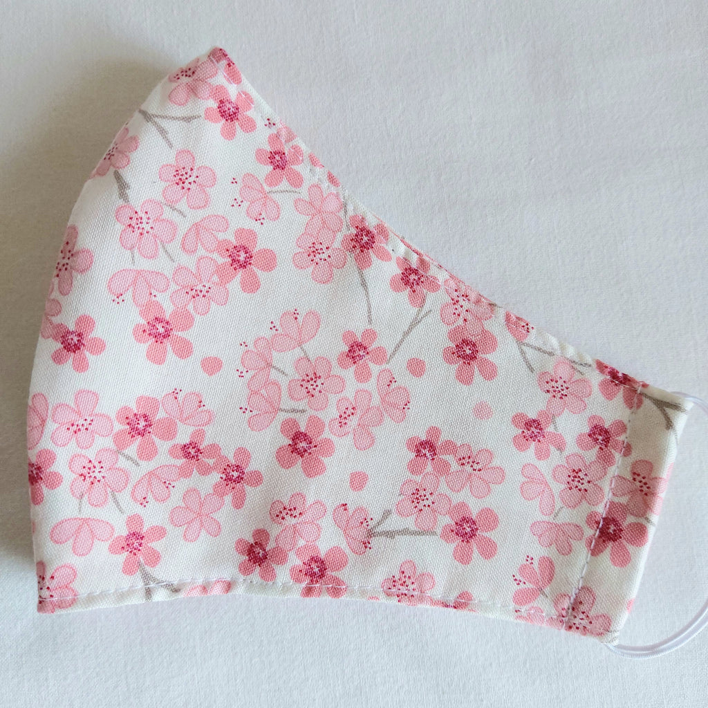 Face Covering - Adult - Spring Blossom on Cream