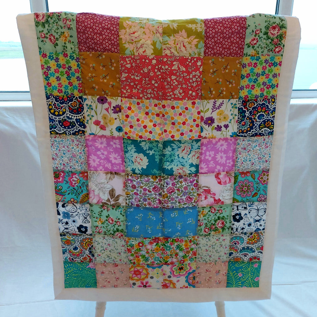 Handcrafted Cot / Lap Patchwork Quilt