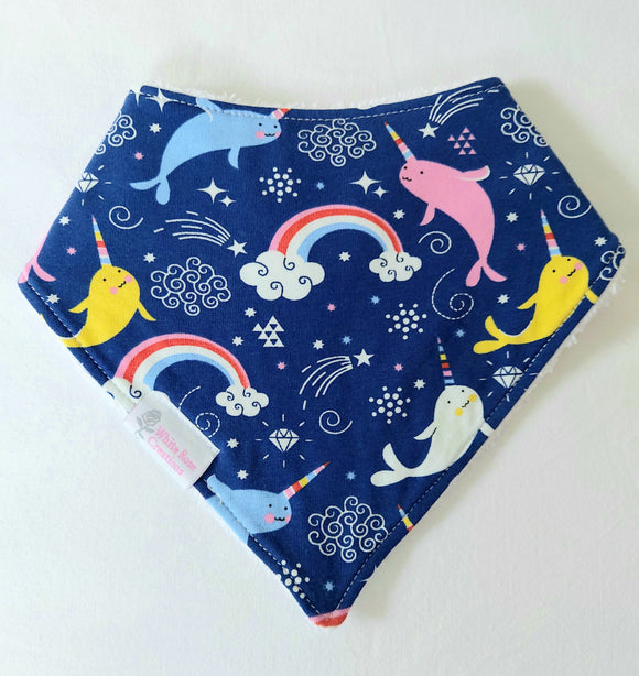 Bib - Navy with Narwhals