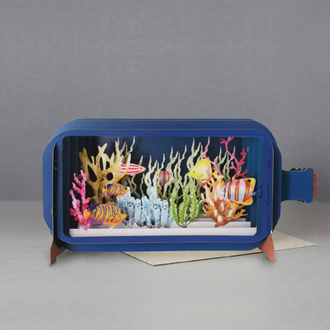Under the Sea Message in a Bottle 3D Card