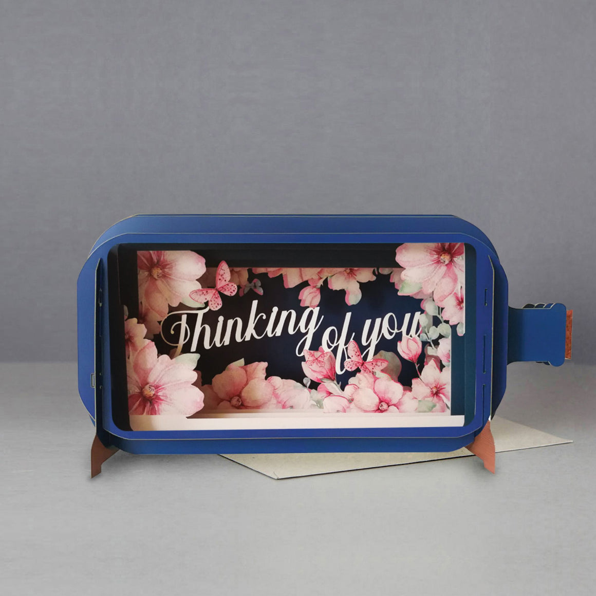 Thinking of You Message in a Bottle 3D Card