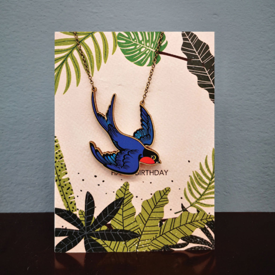 Swallow Necklace Card