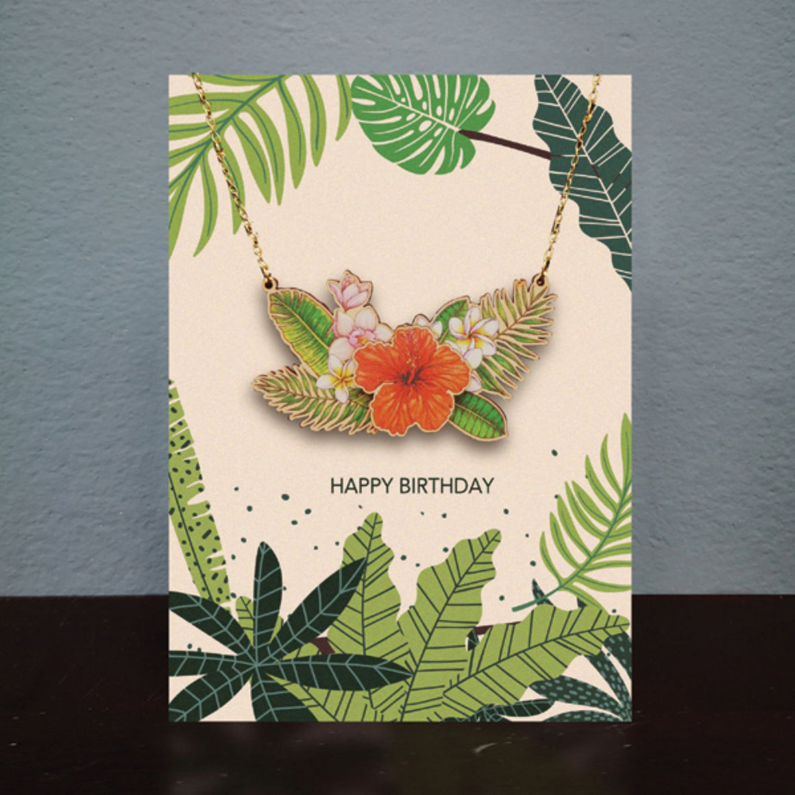 Flowers Necklace Card