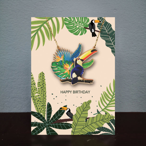 Toucan Necklace Card