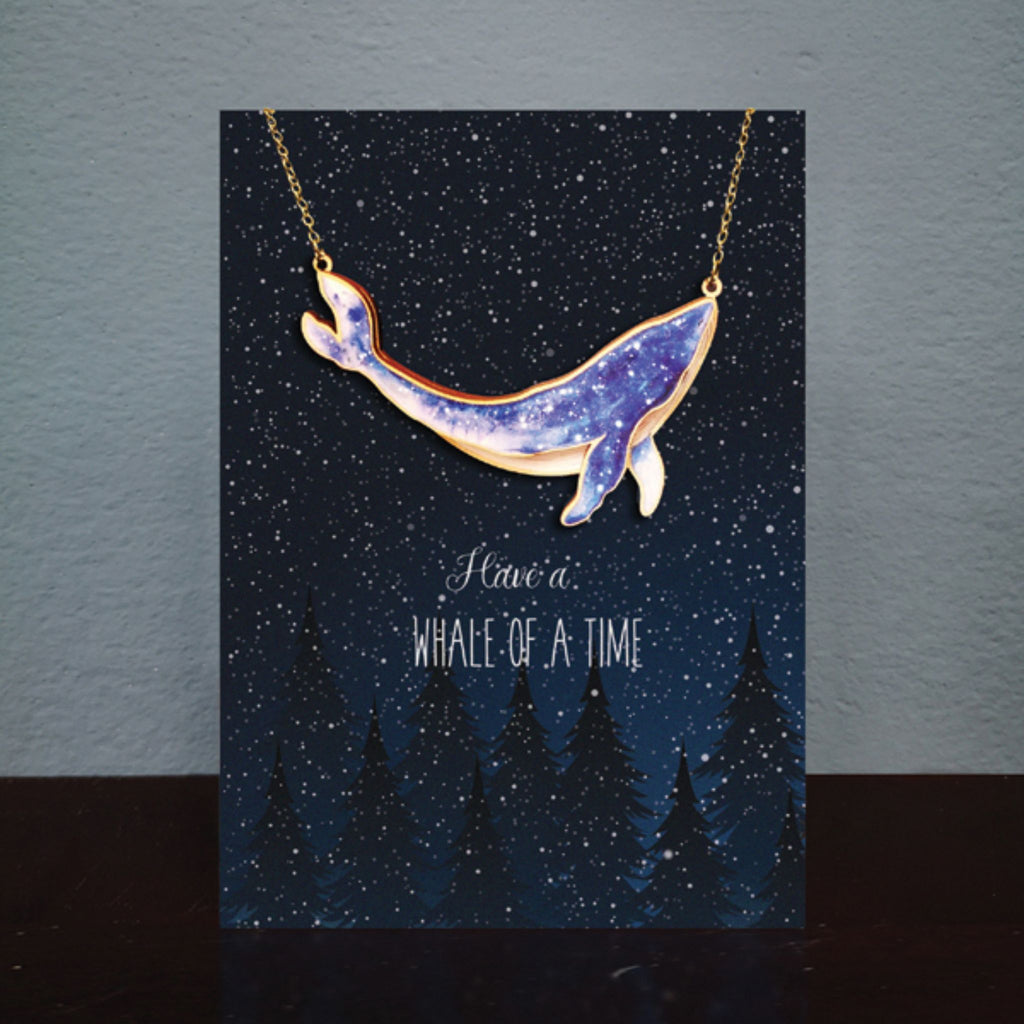 Whale of a Time Necklace Card