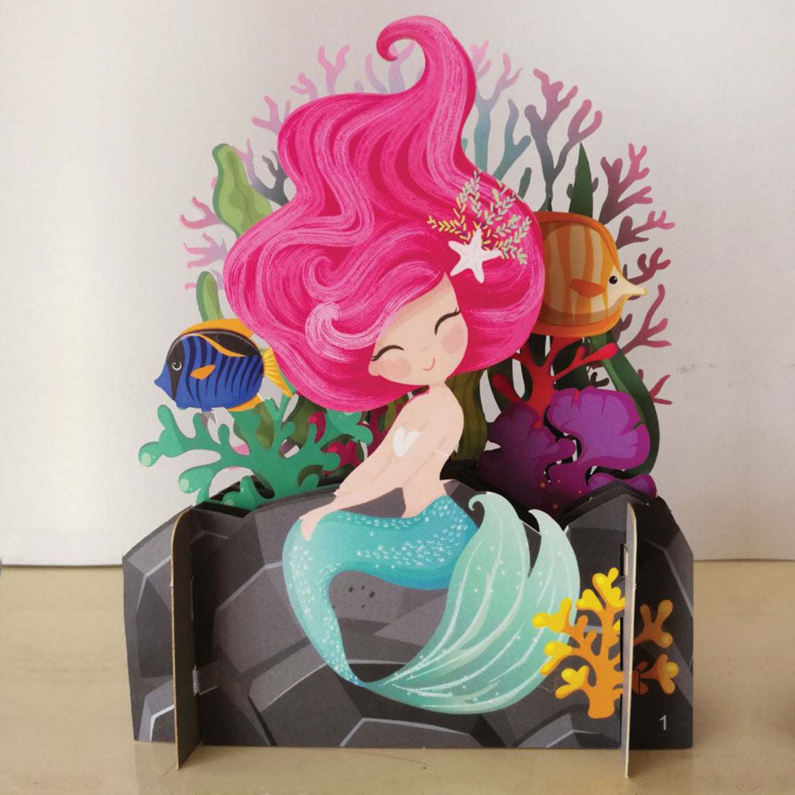 Mermaid 3D Pop Up Card