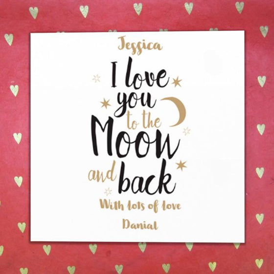 Personalised Fabric Card - Love