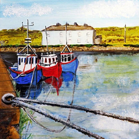 Belmullet Port - 6x6 framed  print by Jean Beard