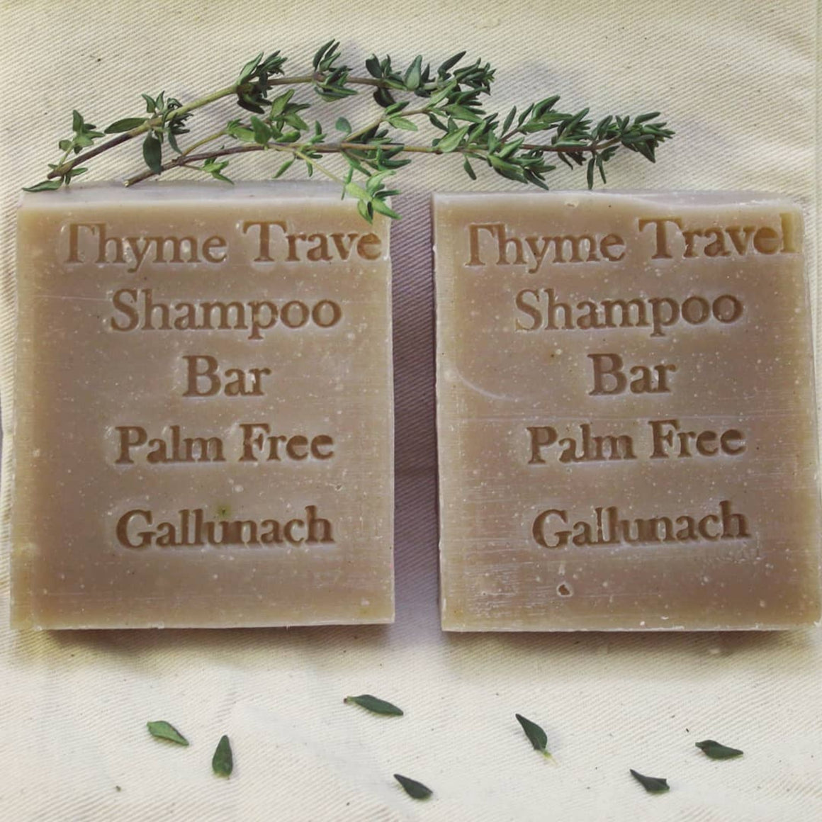 Thyme Travel Palm Free Handmade Hair/Shaving Bar