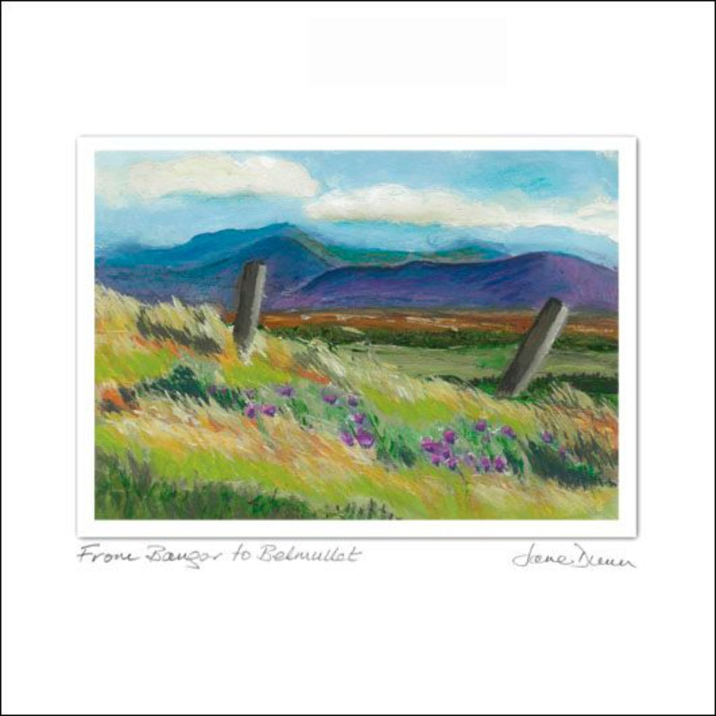 Bangor to Belmullet Art Card