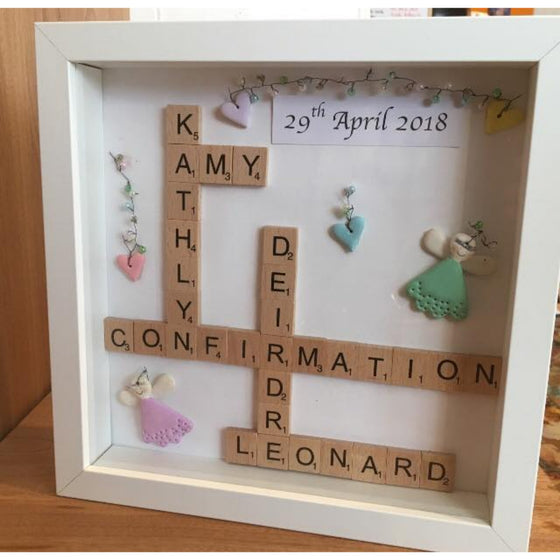 Wooden Scrabble Tile Personalised Frame