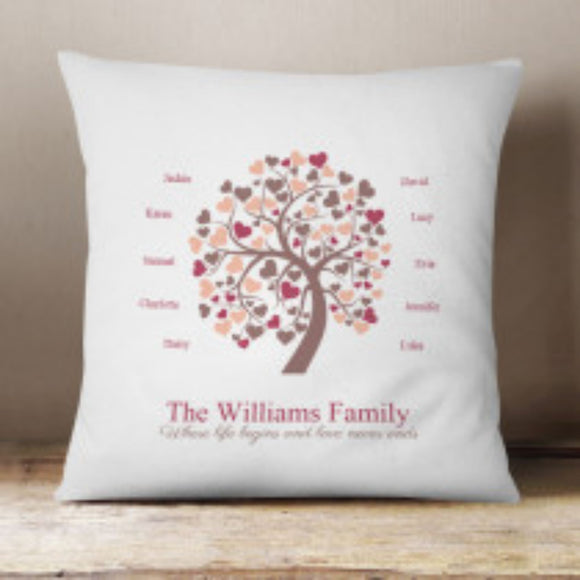 Personalised Family Fabric Cushion
