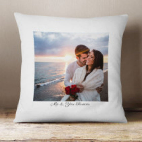 Personalised Fabric Cushion with Photo