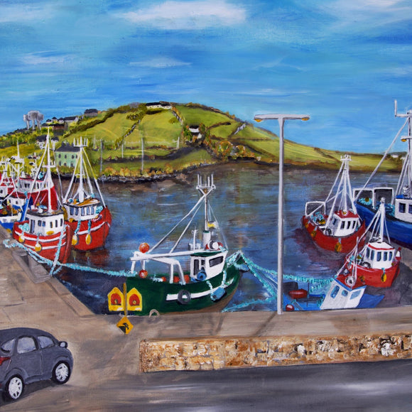 Selection of Belmullet canvas prints 6x6in by Jean Beard