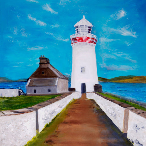 Ballyglass Lighthouse - framed print 6x6 by Jean Beard