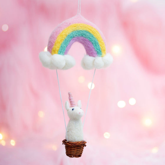 Rainbow Unicorn Felt Hanging Decoration