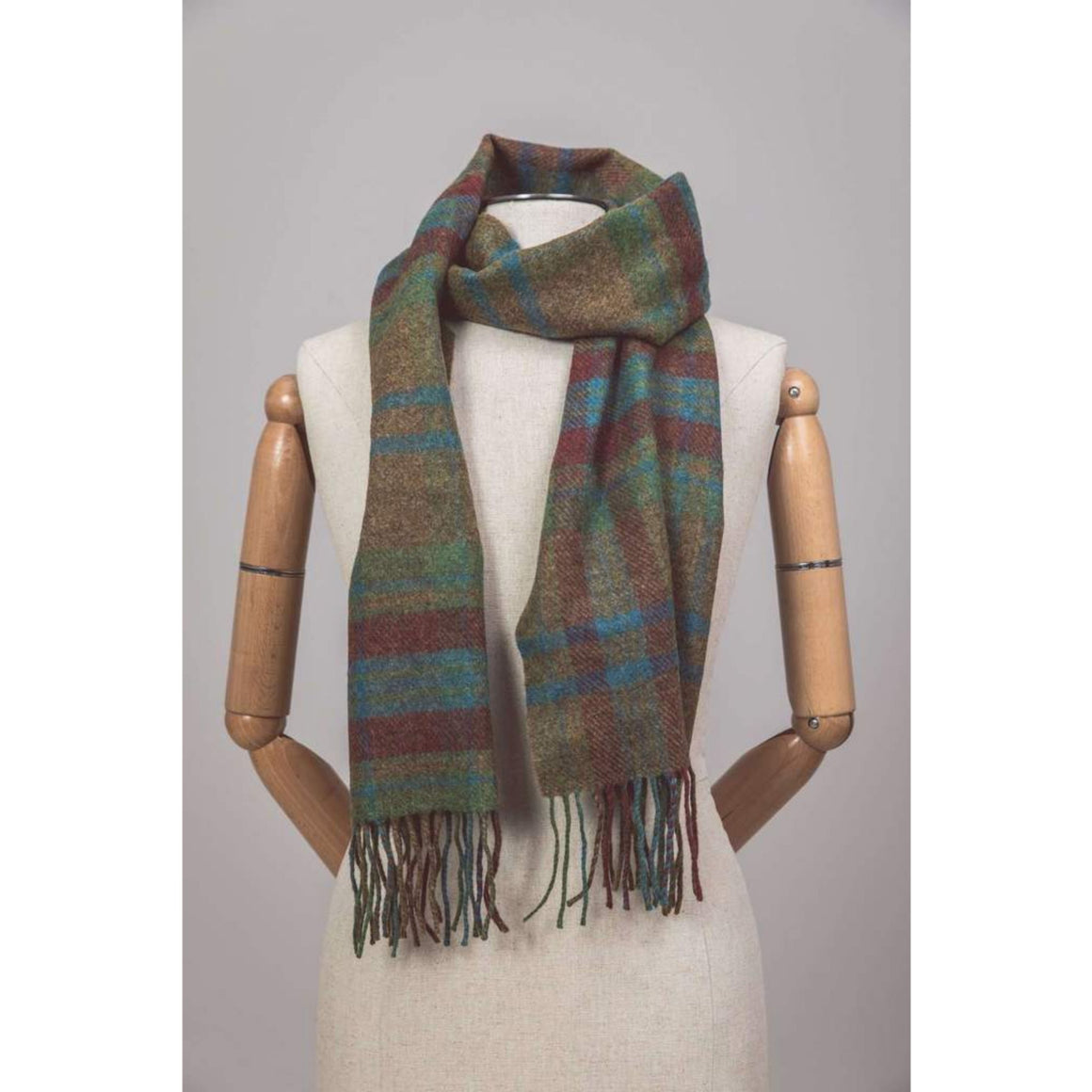 Foxford Scarf Traditional Large Check