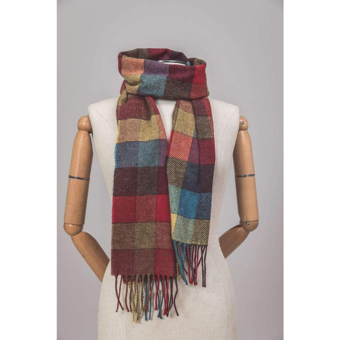 Foxford Scarf Harvest Block Check