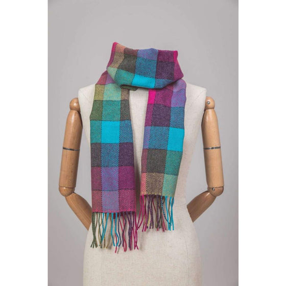 Foxford Scarf 6 colour Shannon Check
